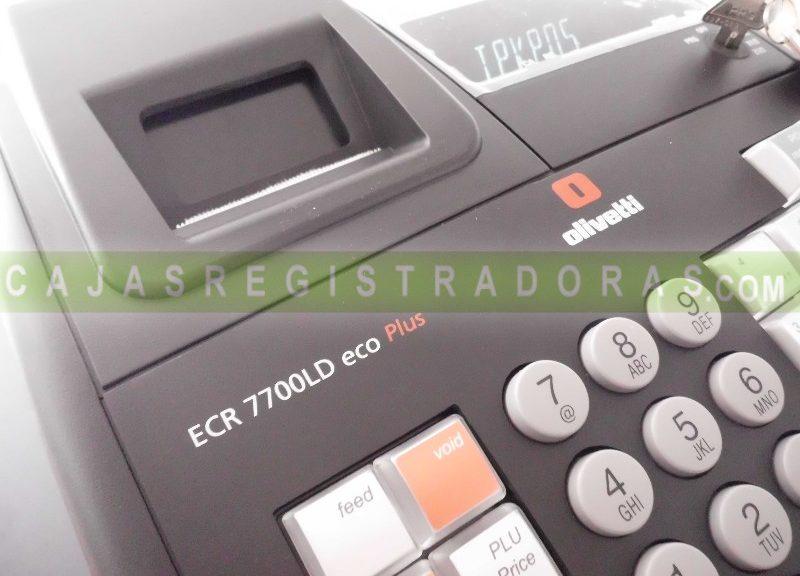 Caja Registradora Olivetti ECR 7700 LD ECO PLUS +10 Rollos de Regalo